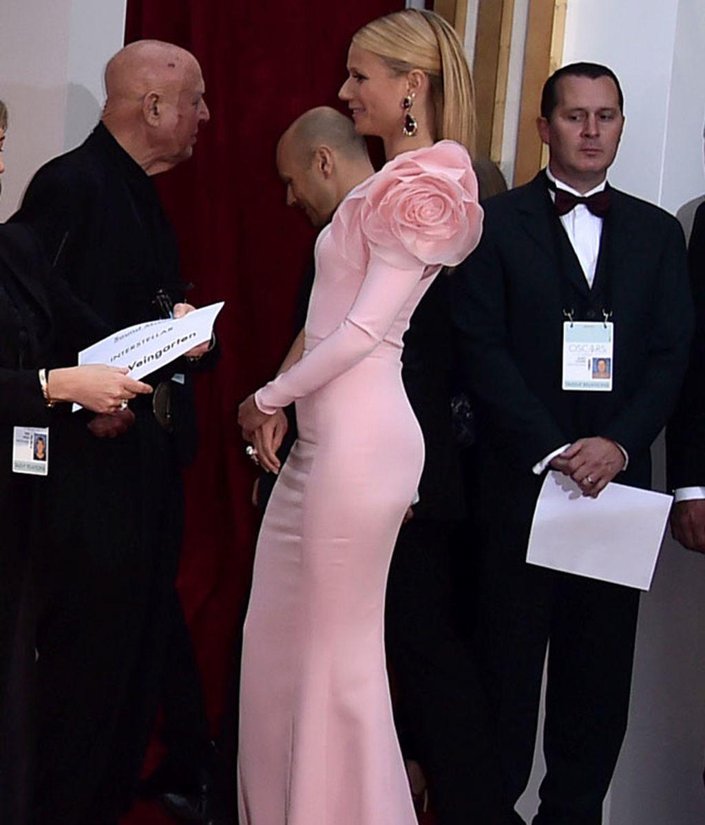 Detalle lateral del vestido de Gwyneth Paltrow