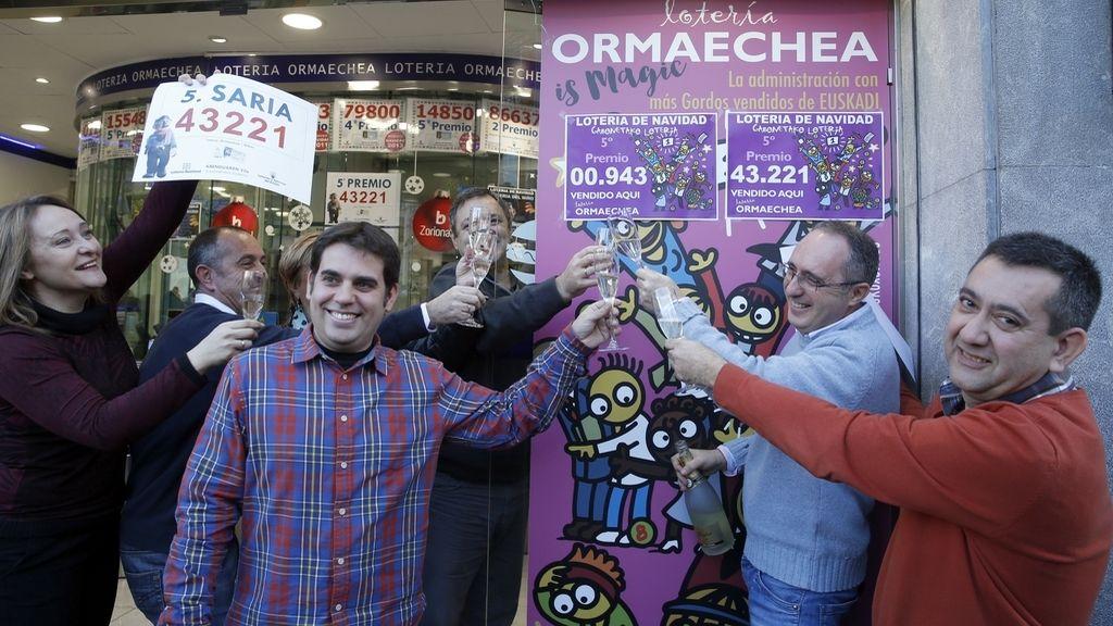 En Bilbao festejan dos quintos premios