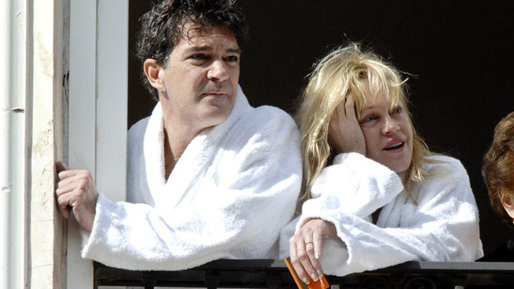 Así vieron Antonio Banderas y Melanie Griffith una procesión de Semana Santa