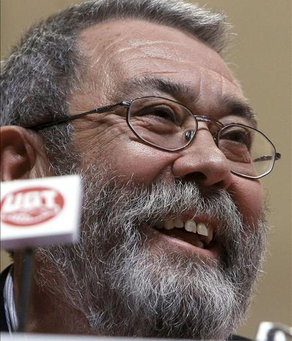 El recién reelegido secretario general de la UGT, Cándido Méndez, tras el congreso de ayer en Madrid. EFE