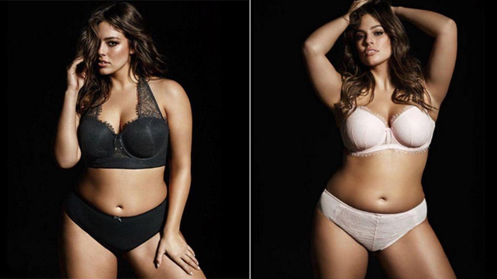La modelo XL Ashley Graham diseña su propia línea de ropa interior de tallas grandes