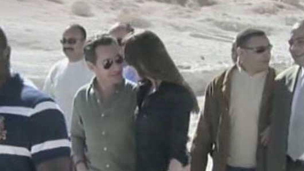 Sarkozy y Bruni se comieron el roscón en Jordania