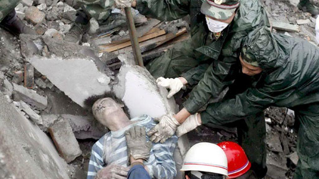 Rescate de un superviviente