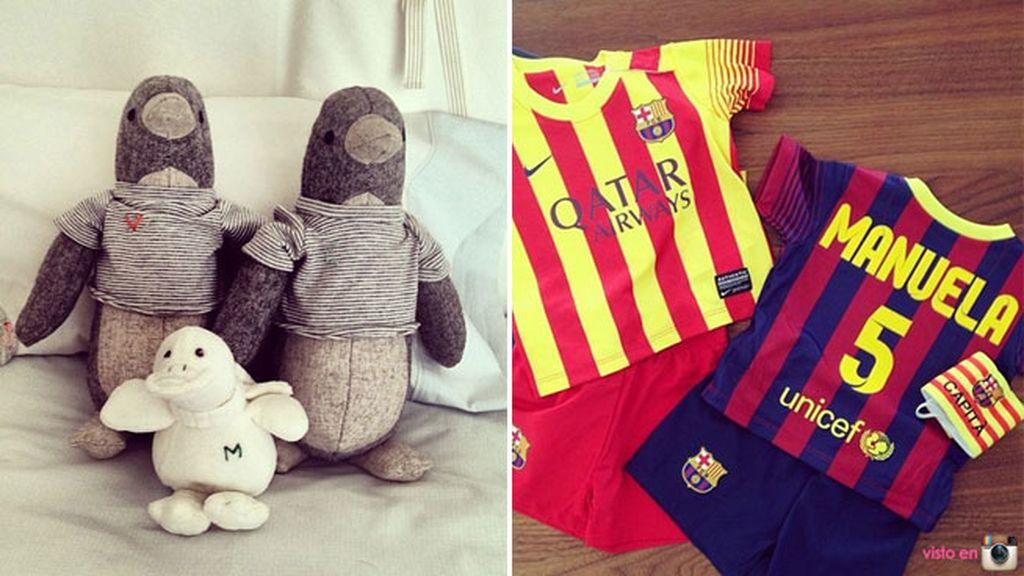 Los objetos del bebé: Puyol y Vanesa Lorenzo