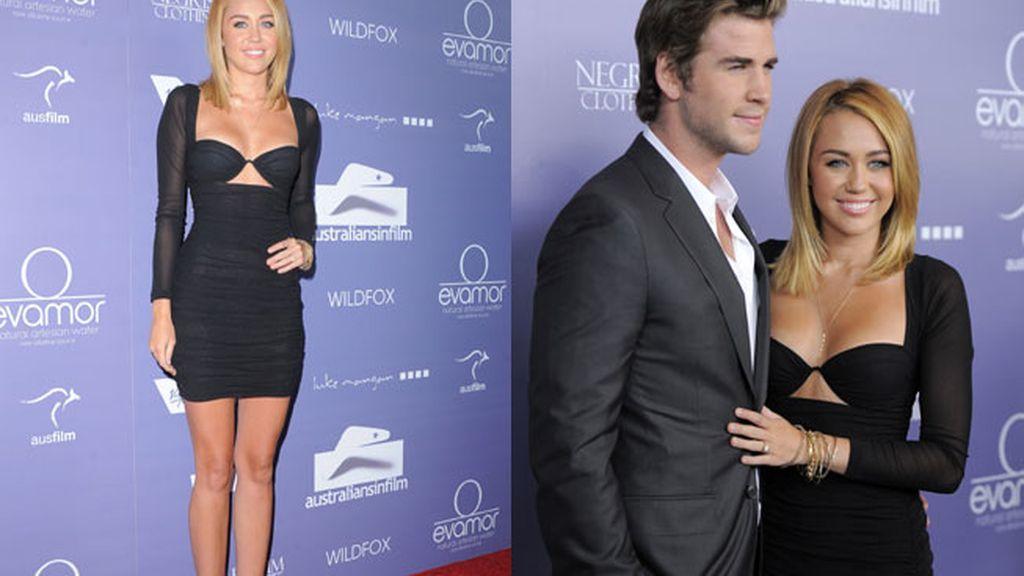 Miley Cyrus y Liam Hemsworth, primera aparición pública tras comprometerse