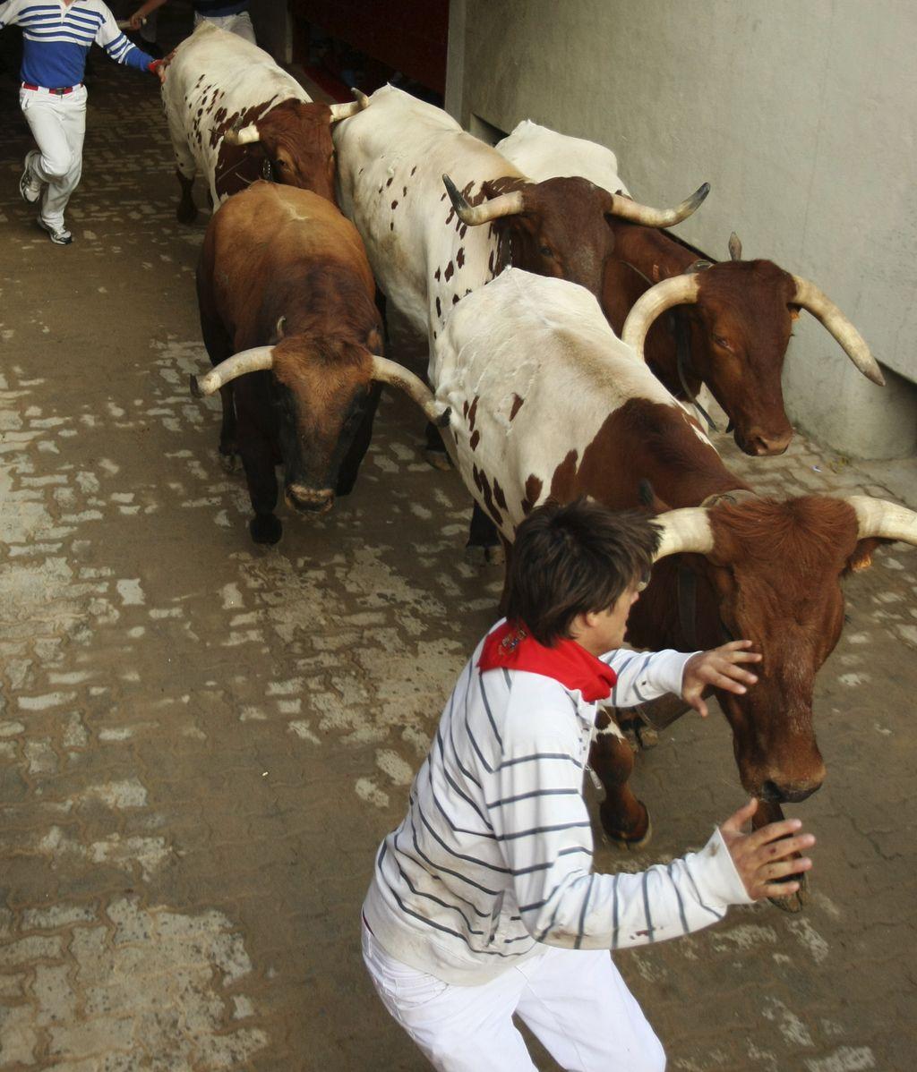Último encierro de los sanfermines 2011