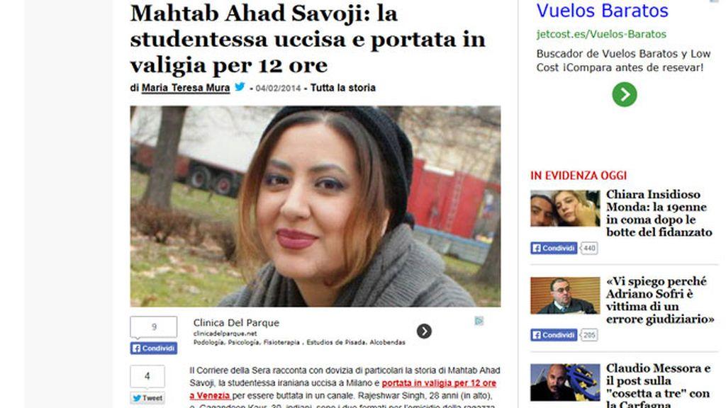 Mahtab Ahad Savoji, joven asesinada por no querer hacer un trío