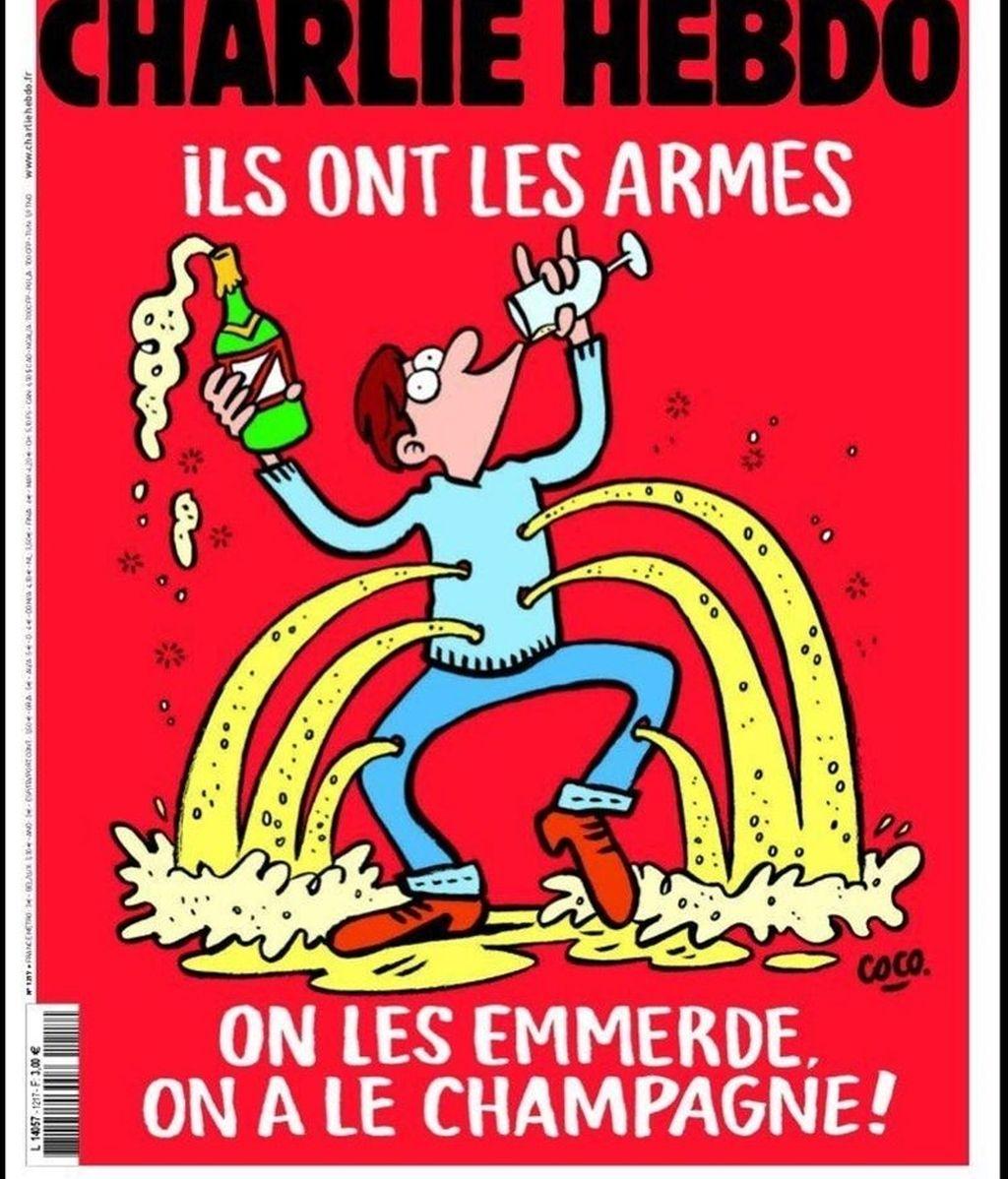 Portada de la revista satírica Charlie Hebdo para el miércoles