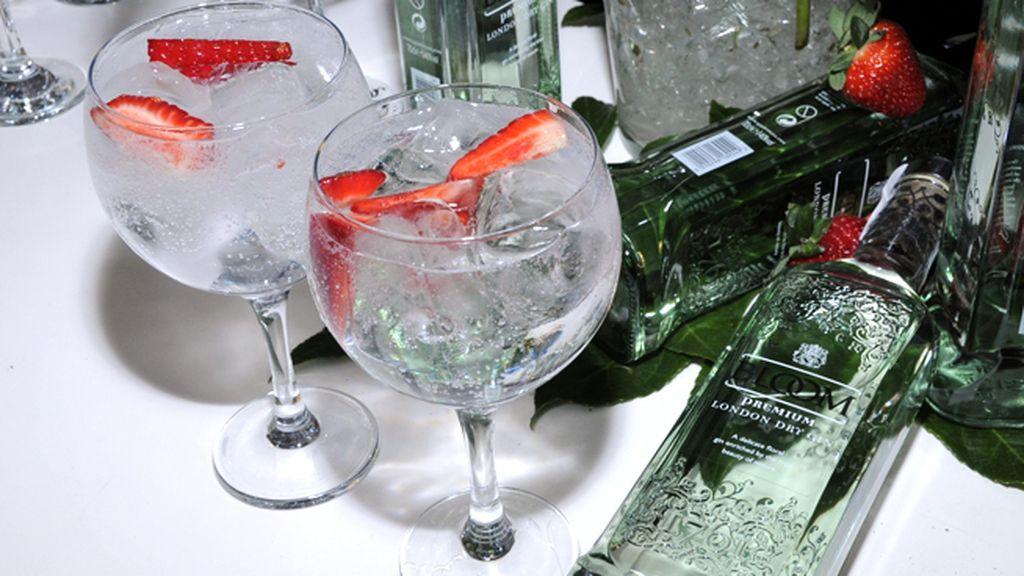 Los riquísimos gin tonic con fresas triunfaron entre los asistentes a la fiesta
