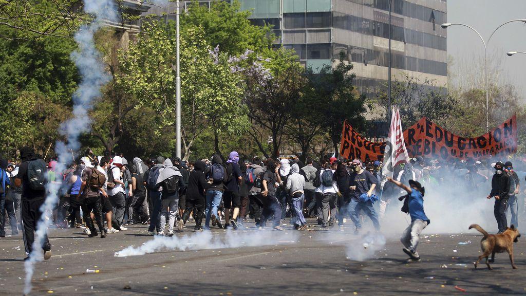 Nuevas protesta estudiantil en Santiago de Chile