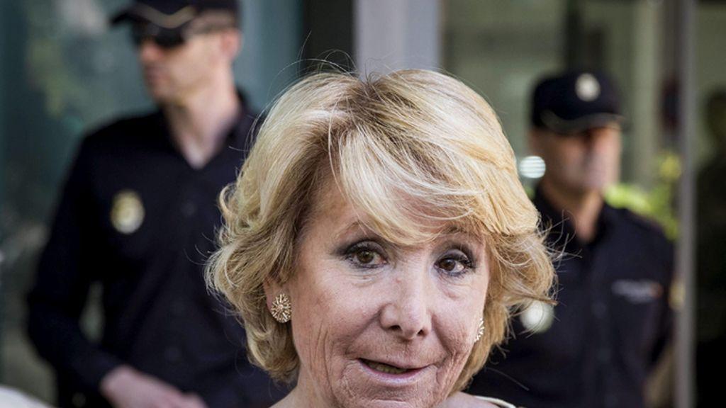 Esperanza Aguirre, presidenta del PP de Madrid y candidata a la Alcaldía de la ciudad