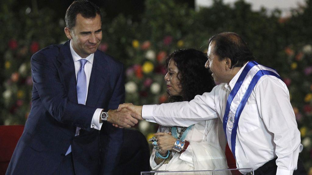 El príncipe Felipe en la toma de posesión de Daniel Ortega