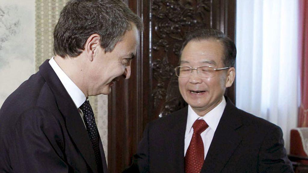 Zapatero durante su viaje a China