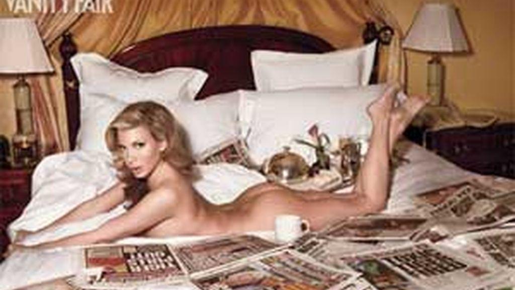 Loredana Jolie Ferriolo, antigua 'chica Playboy', asegura que Wood le perimitío cargar a su habitación de hotel compras por valor de 15.000 dólares. Foto: Vanity Fail.