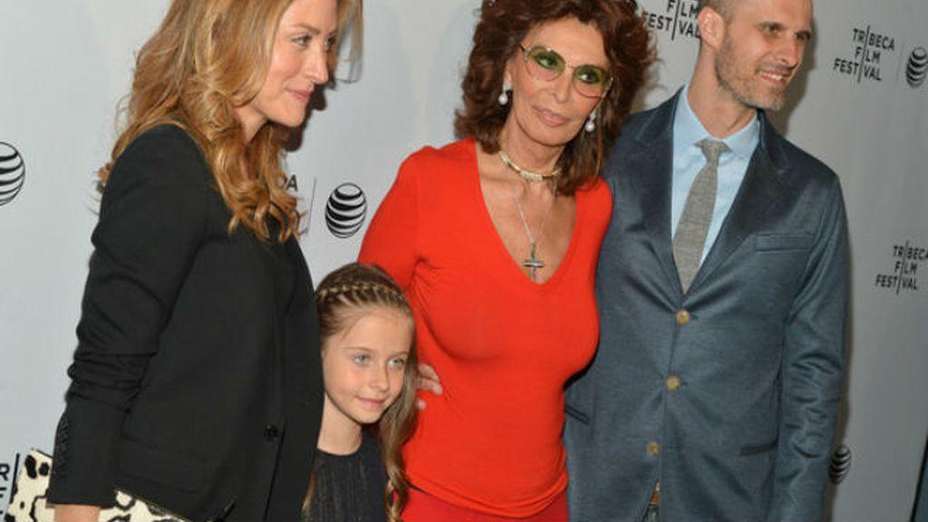 Sofia Loren y su nieta Lucía, la niña de sus ojos