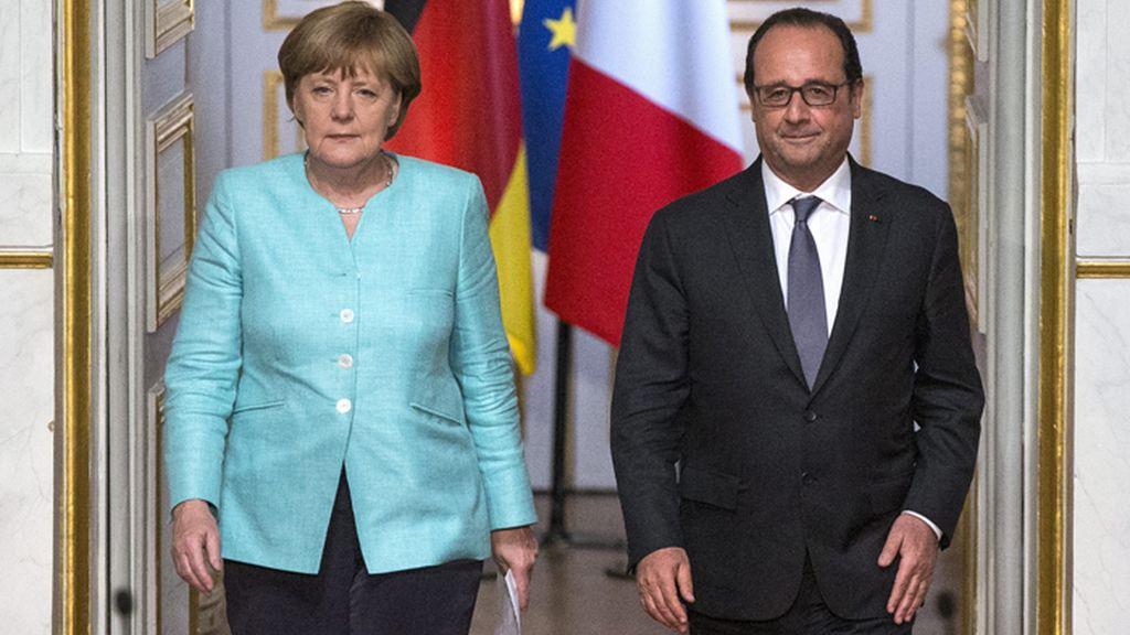 Rueda de prensa de Hollande y Merkel
