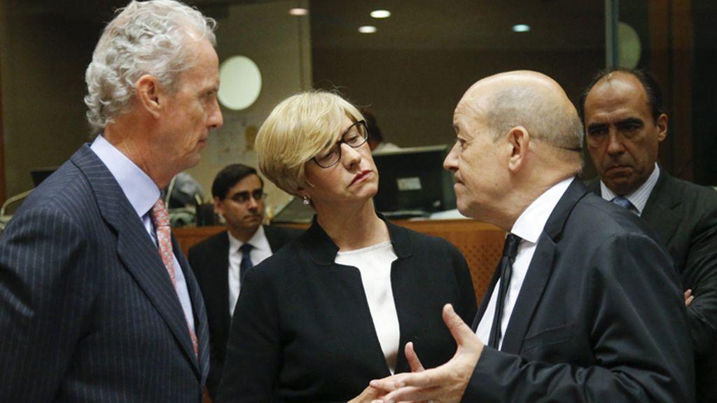 Pedro Morenés en la reunión de ministros de Defensa de la UE