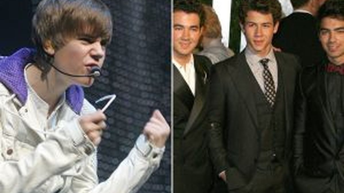 Justin Bieber y los Jonas Brothers se enfrentarán en los juzgados. Fotos: Gtres.