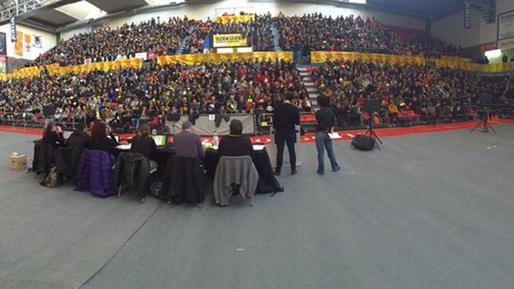 Asamblea de la CUP en Manresa (Barcelona)