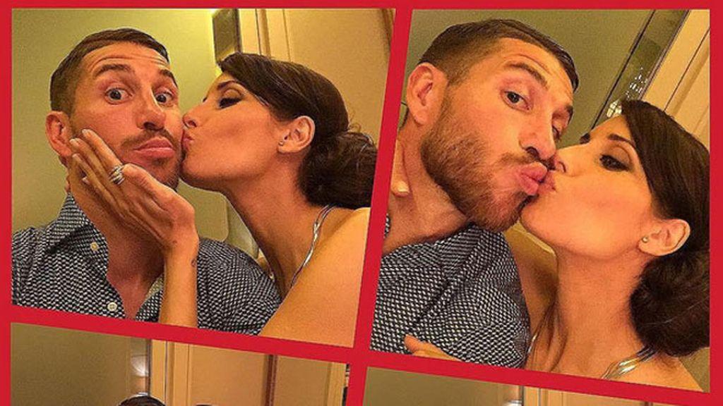 Pilar Rubio y Sergio Ramos también tuvieron su momento beso, en viñetas