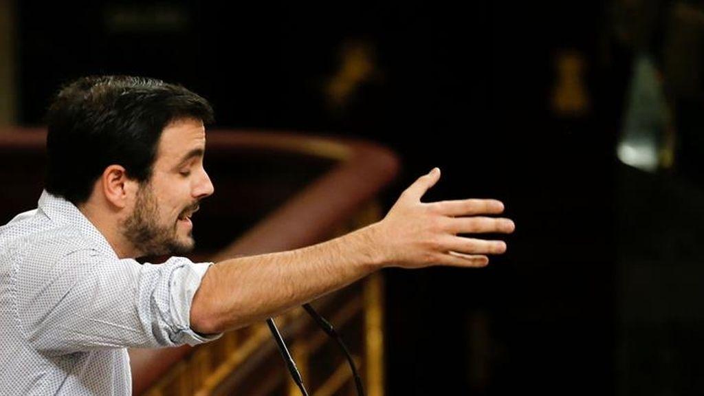 Alberto Garzón en la segunda votación