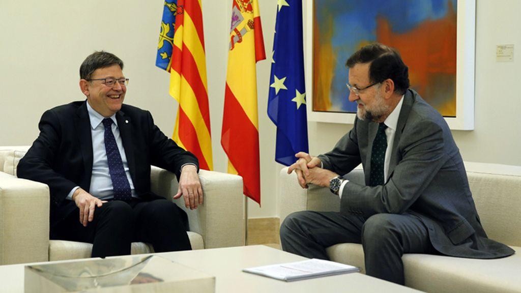 Mariano Rajoy recibe al presidente valenciano, Ximo Puig