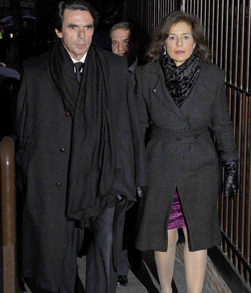 José María Aznar junto a Ana Botella