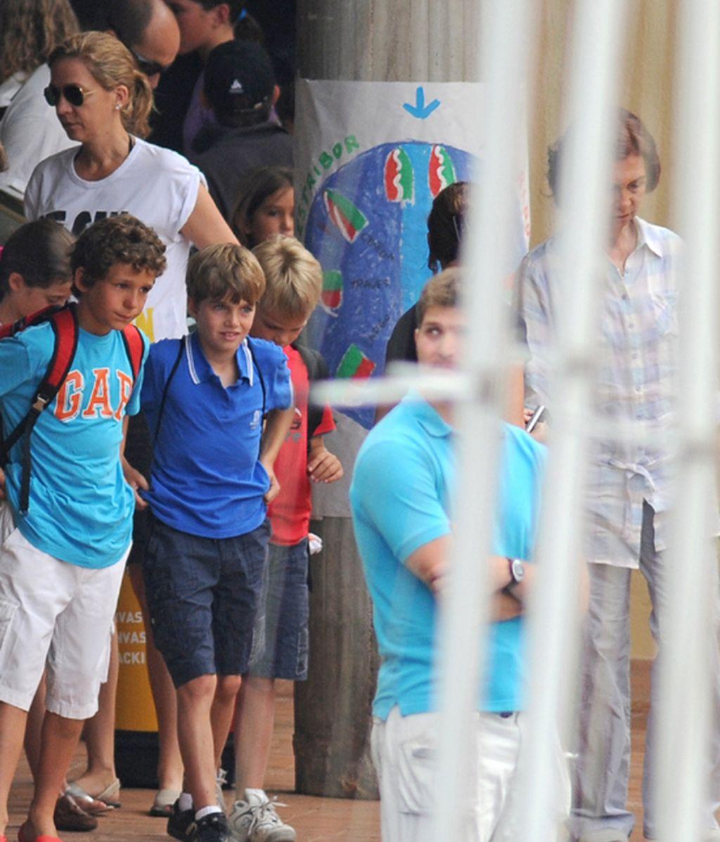 La familia real, al completo en Palma