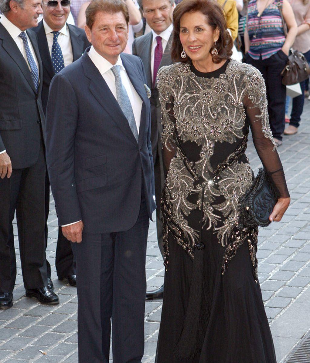 Rafael Peralta con su mujer