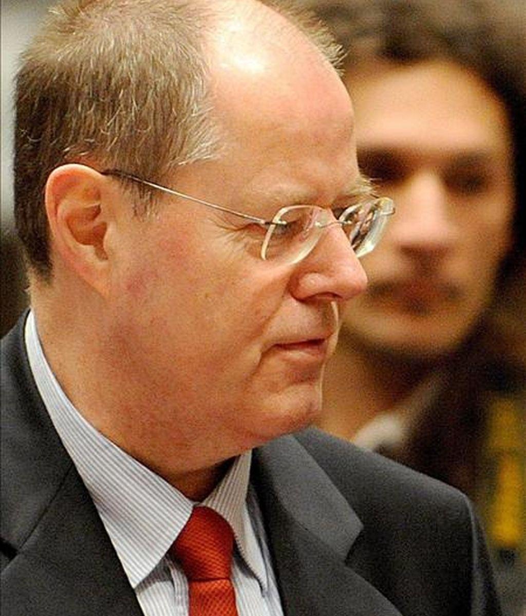 El ministro alemán de Economía, Peer Steinbruck. EFE/Archivo