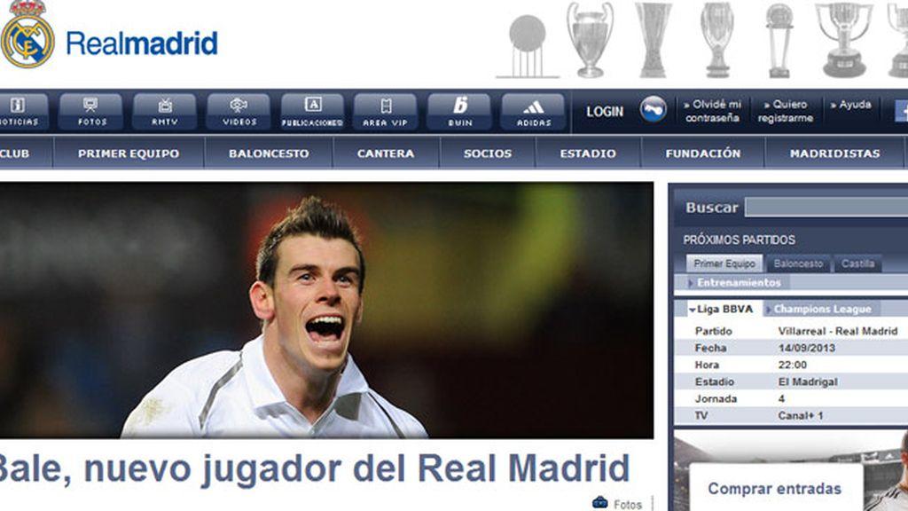 Bale, al Real Madrid. Foto: www.realmadrid.com