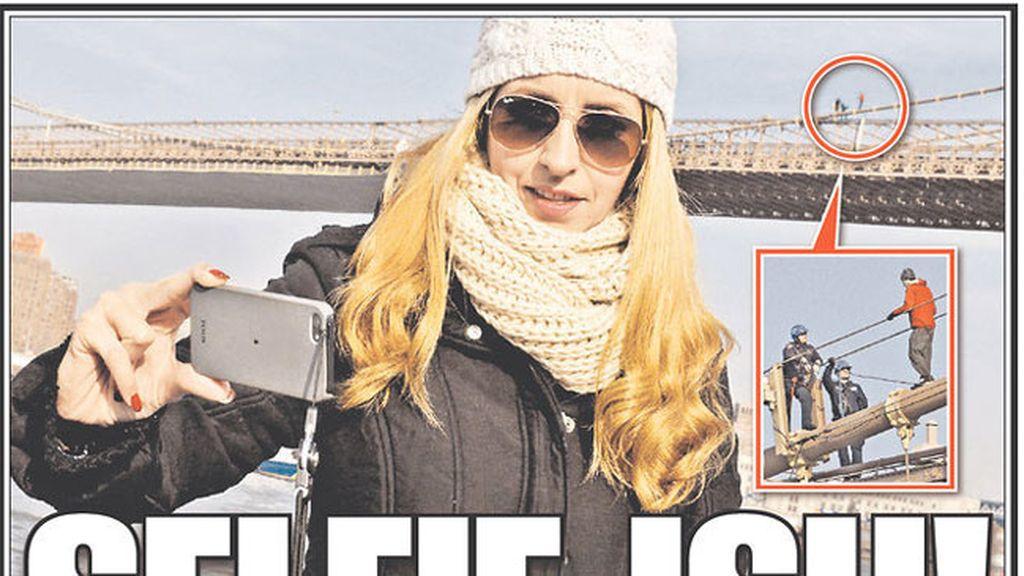 Portada New York Post. Autorretrato con suicida de fondo
