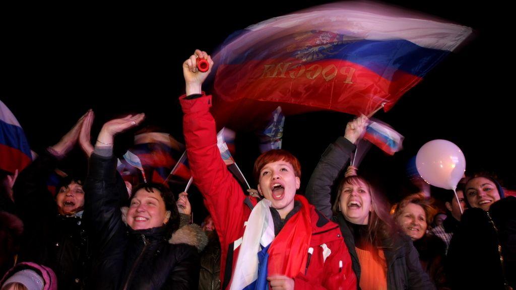 Crimea celebra el referéndum. Foto: EFE