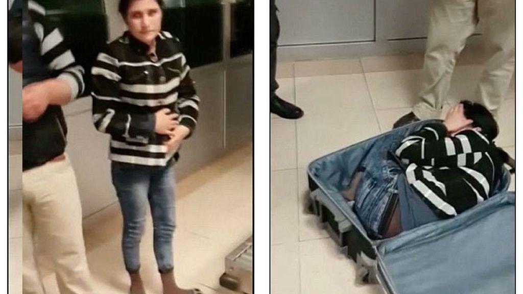 Descubren a una mujer cuando trataba de entrar a Turquía dentro de una maleta