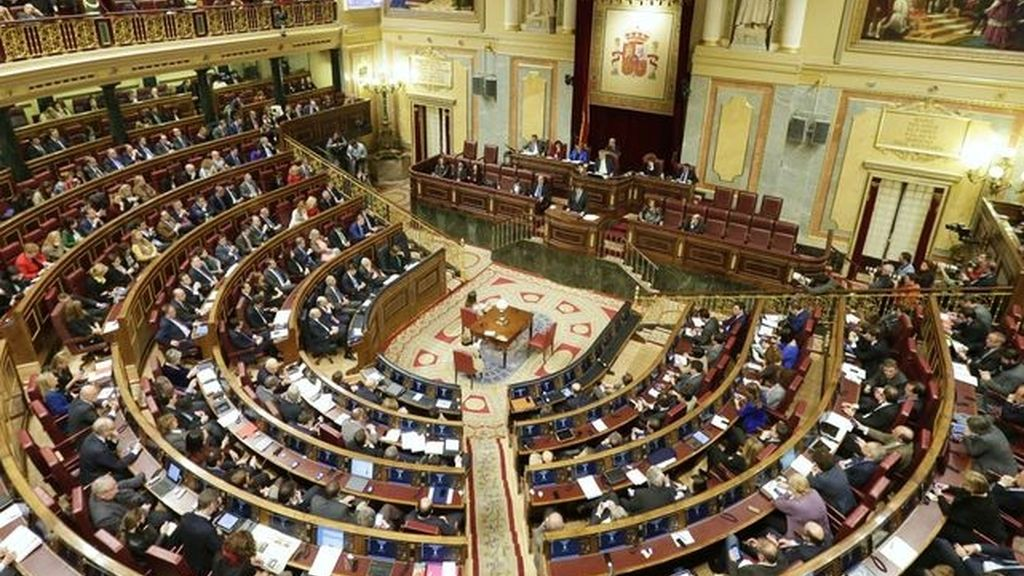 Vista general del hemiciclo del Congreso de los Diputados