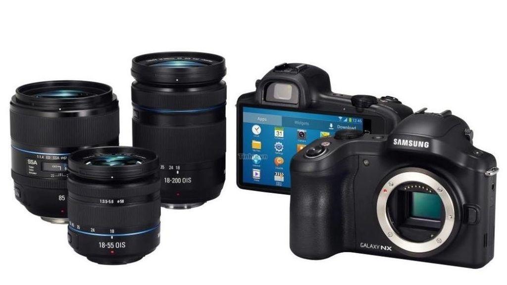Samsung Galaxy NX,cámara fotográfica,objetivos intercambiables,Android