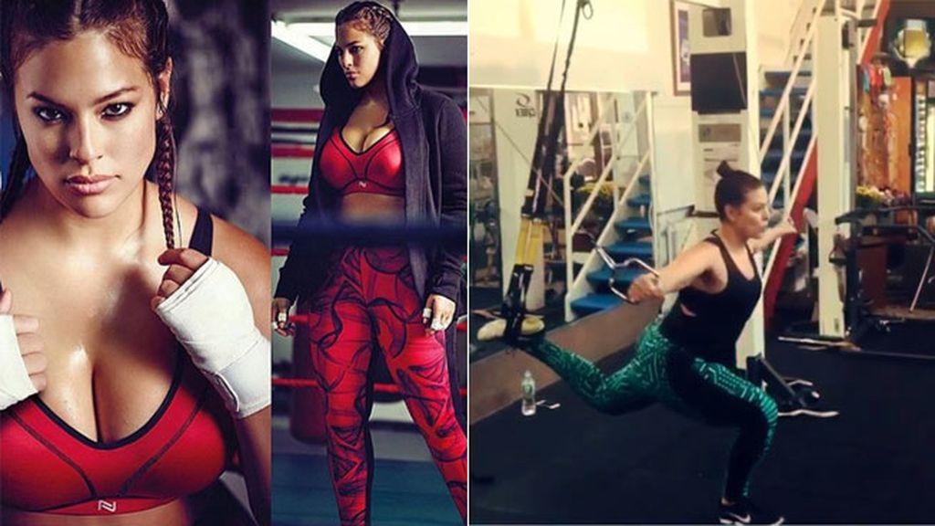 Es aficionada al 'fitness' y al boxeo