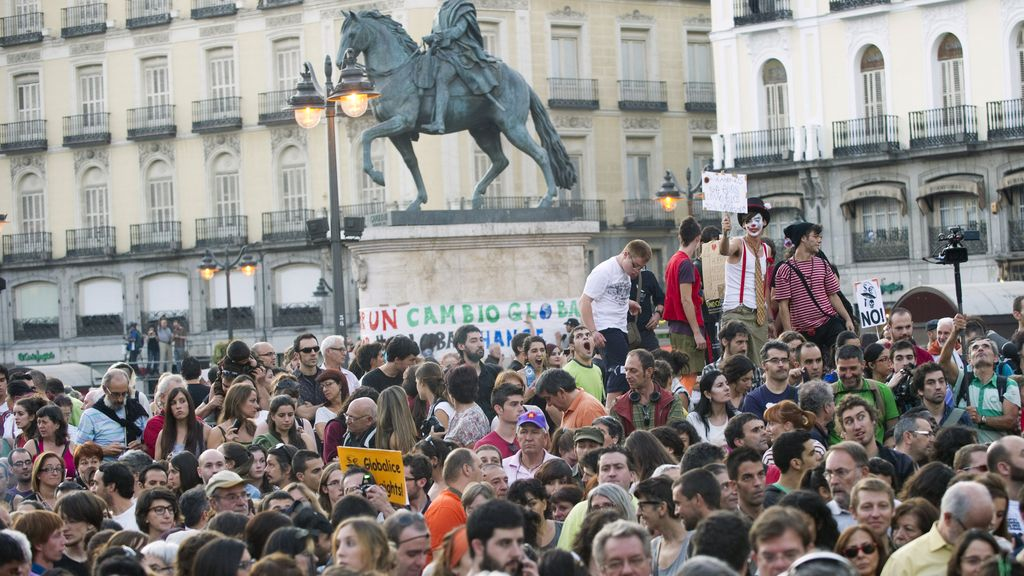 Protesta del 15M en Sol