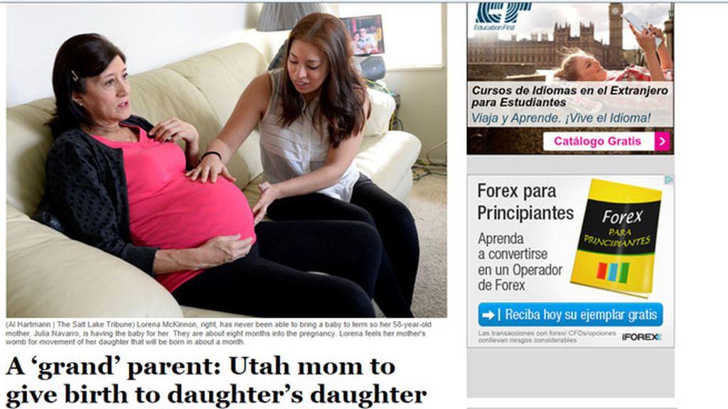 Una mujer de 58 años dará a luz a su nieto en Utah