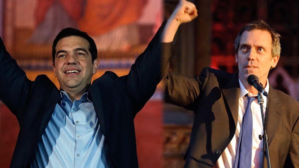 Tsipras y Hugh Laurie