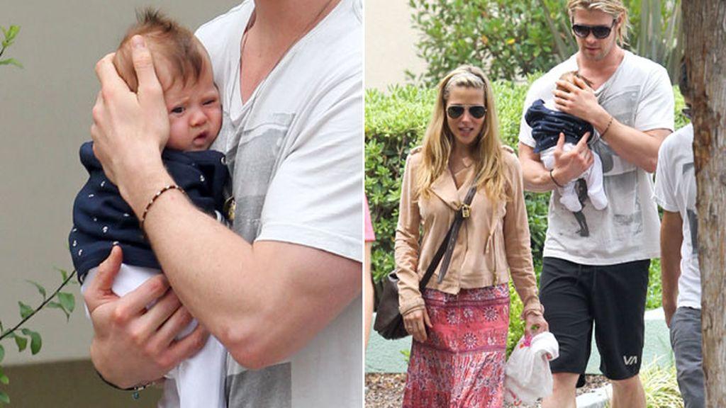 Elsa Pataky y Chris Hemsworth con su hija India Rose