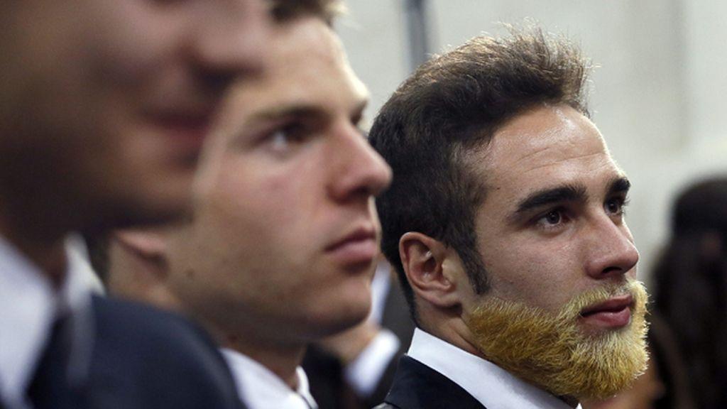 Carvajal luce su nueva barba en la celebración de 'la Décima'