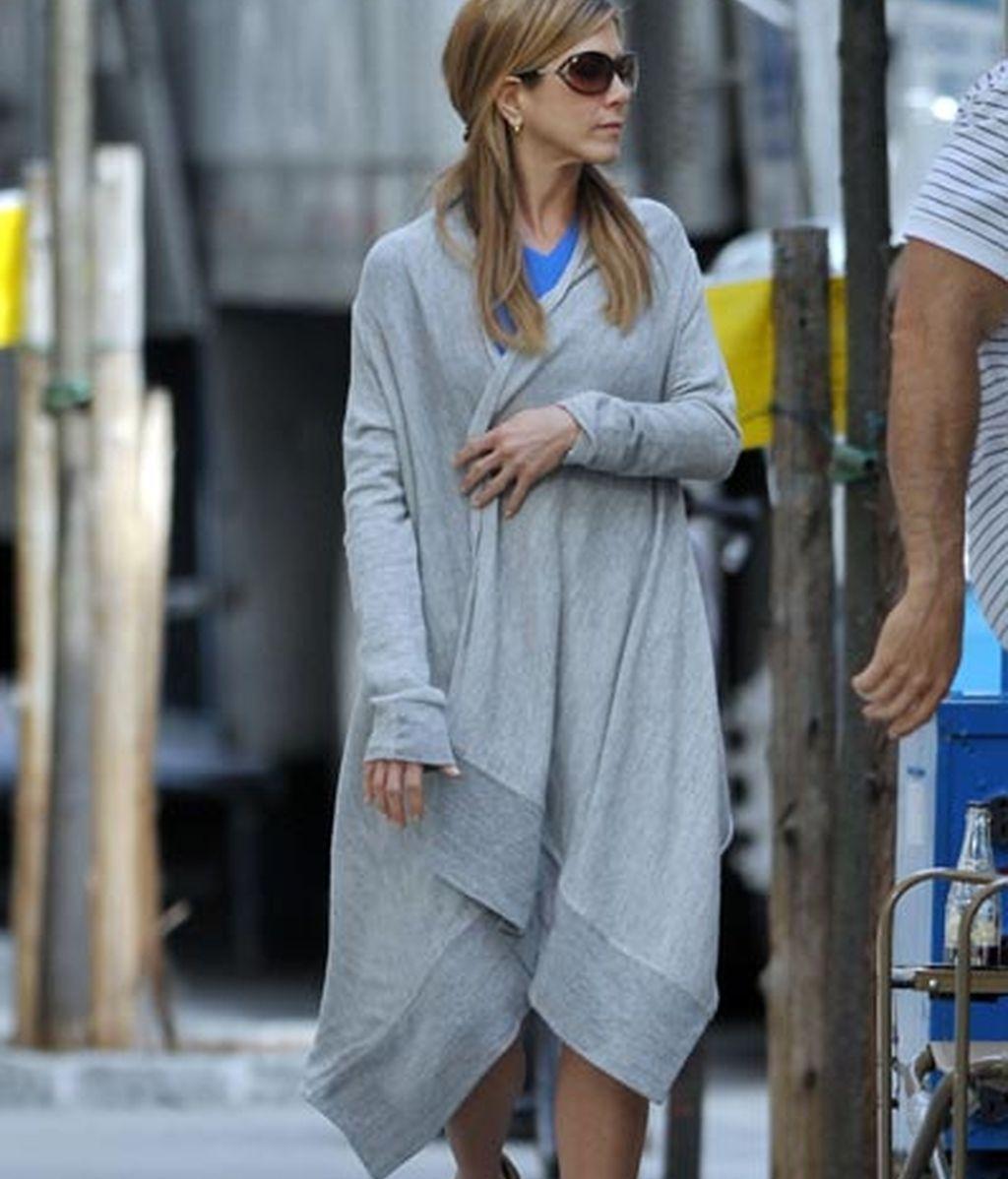 Jennifer Aniston se olvidó de mirarse al espejo