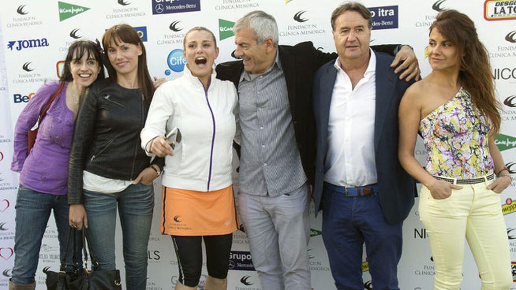 Los famosos disfrutaron del día de deporte