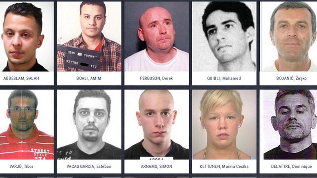 Los fugitivos más buscados de Europa