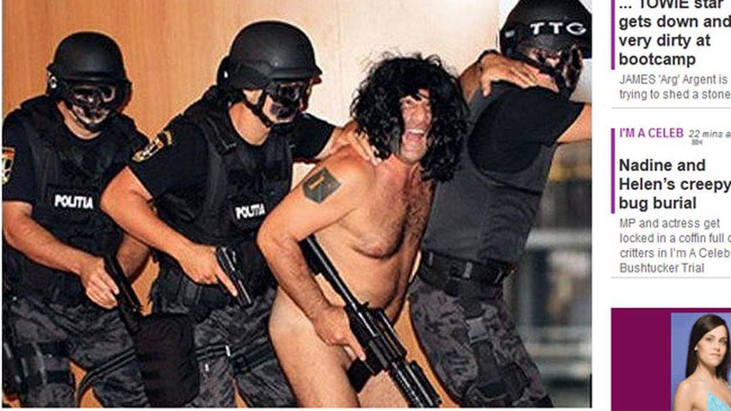 jefe de policía desnudo  Rumanía