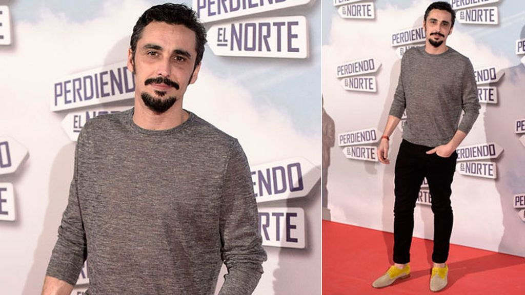 El actor Canco Rodríguez, con look 'casual', no se quiso perder la premiere