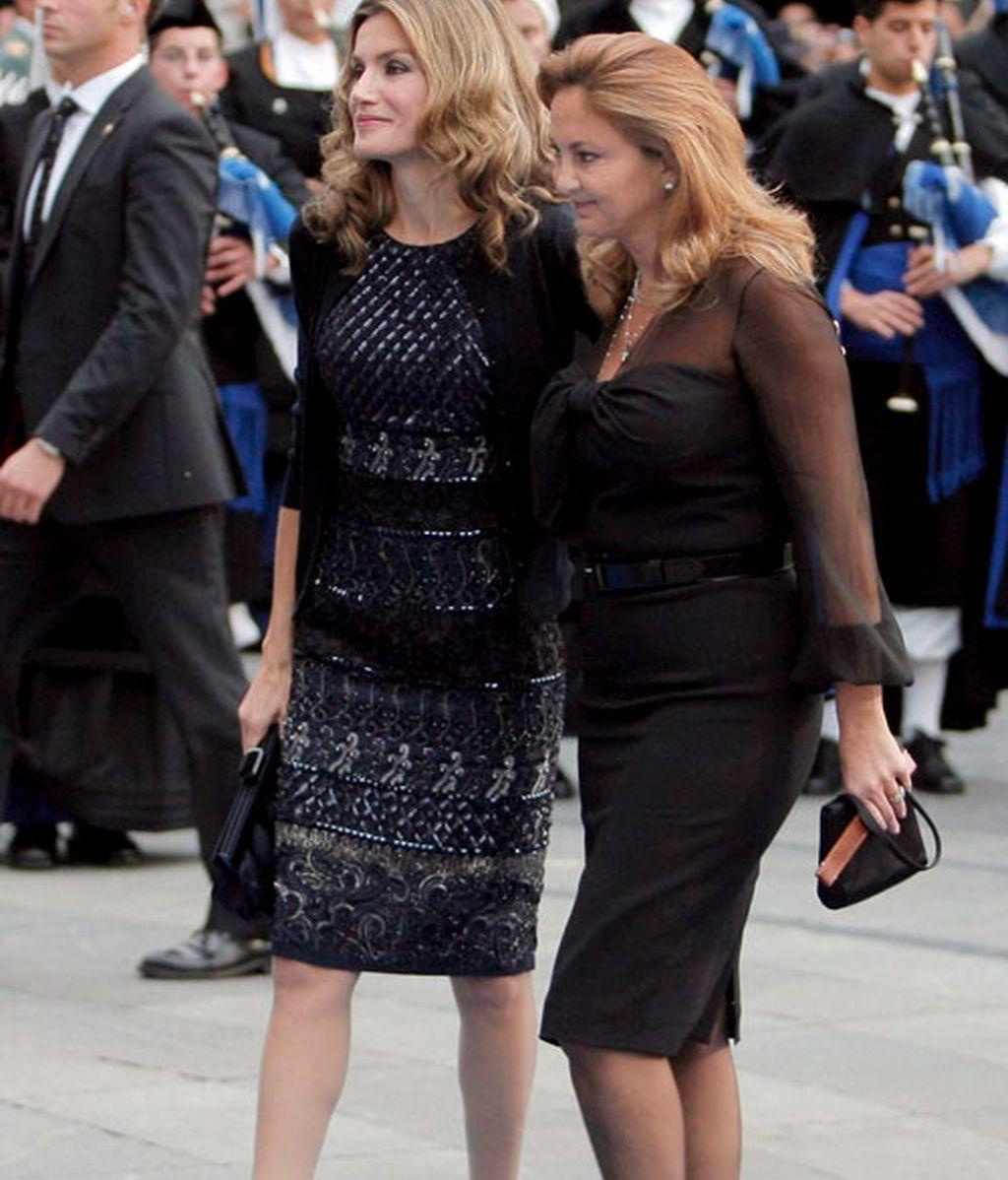 Letizia junto a Alia de Jordania