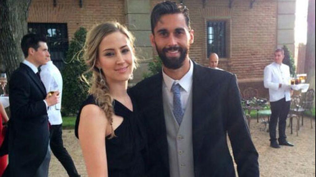Álvaro Arbeloa con su chica