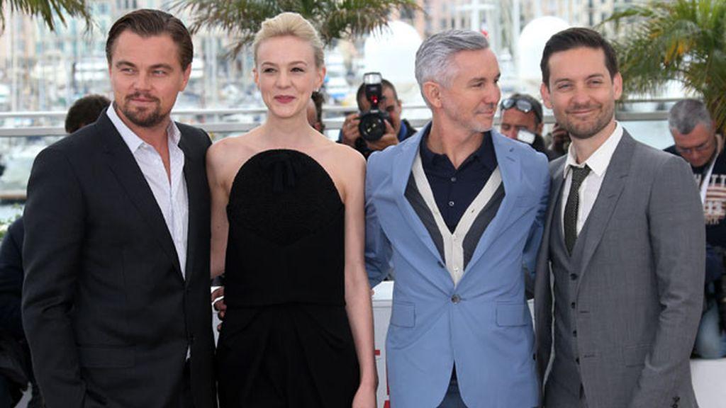 Los protagonistas del Gran Gatsby posan en Cannes